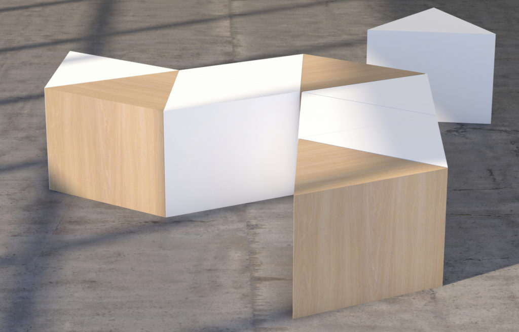 Hickory Contract BLOK Drum & Cube Tables